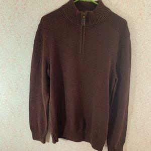 Eddie Bauer 1/2 zip men's sweater. Sz Tall L
